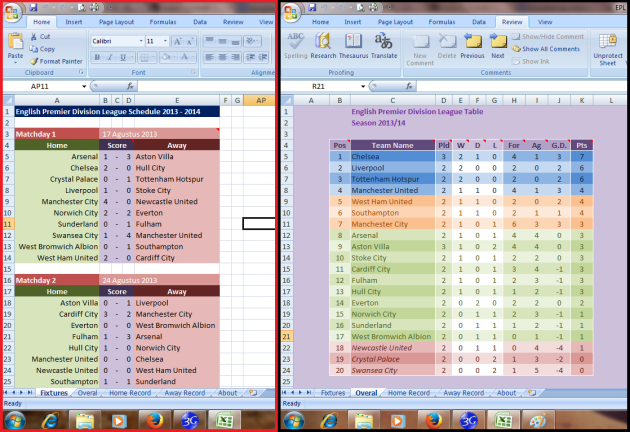 Screenshot EPL 2013 - 2014