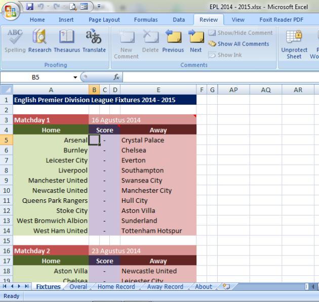 Jadwal dan Klasemen Liga Primer Inggris 2014 – 2015