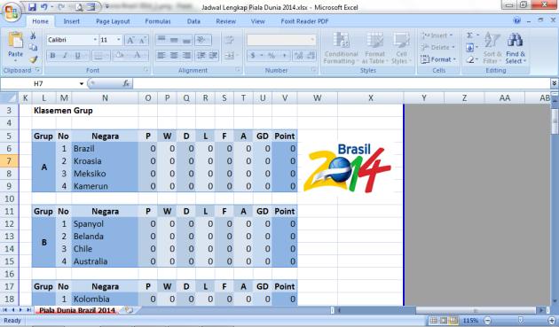 Jadwal Piala Dunia Brazil 2014_2